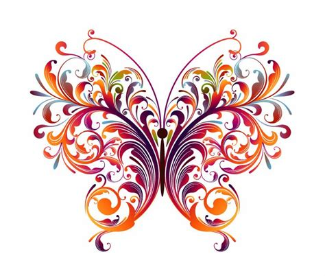 design flower and butterfly abstract floral butterfly vector graphic free vector