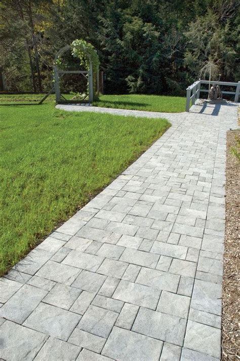 slate stone antique gray standard finish paver walkway paver walkway pinterest paver