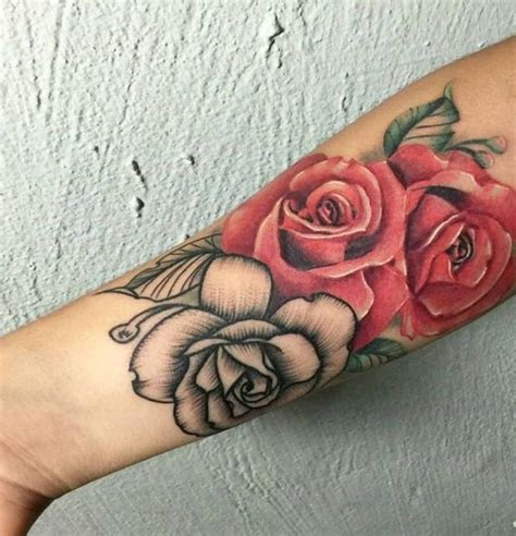98 rocking rose tattoos for both men and women