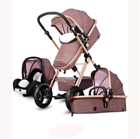 newborn car seat and pram luxury baby stroller 3 in 1 high view pram foldable