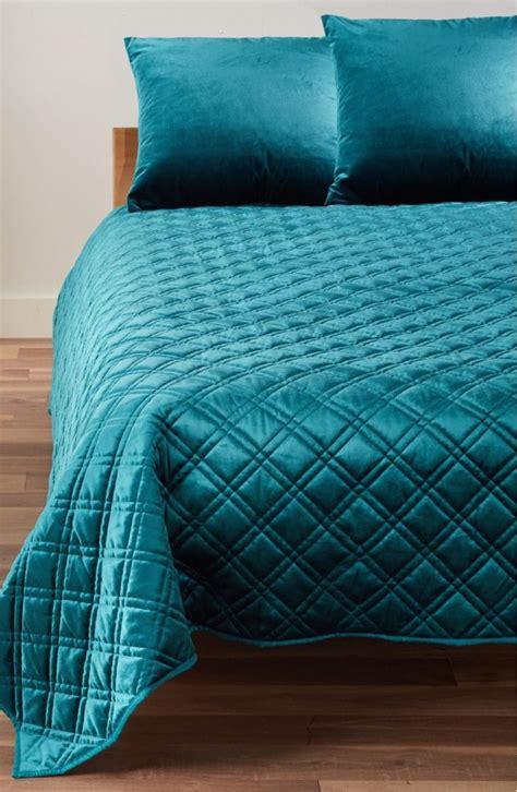 Teal Quilted Bedspread Blue Velvet Duvet Cover Roselawnlutheran