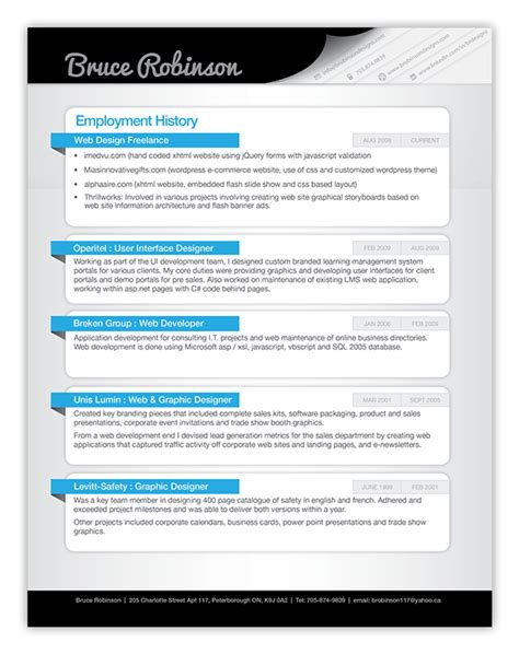 creative resume on behance