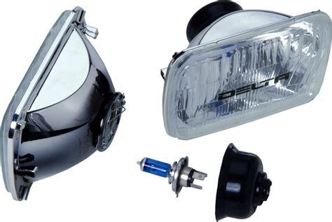 Jeep Wrangler Headlight Bulbs Delta Tech 1 1249 50x Rectangular H4 Headlight Conversion