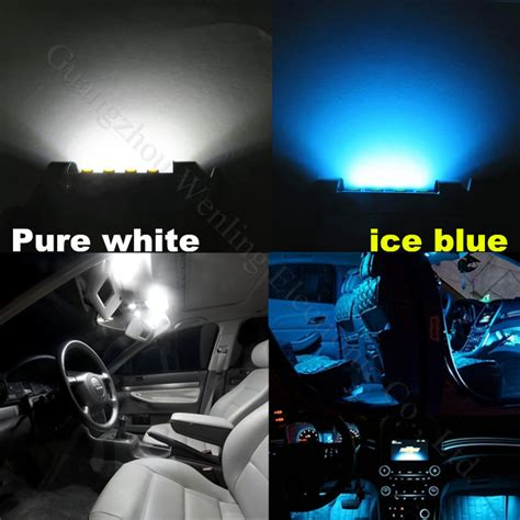 white led interior lights 19pcs white canbus dome footwell trunk lighting bulb