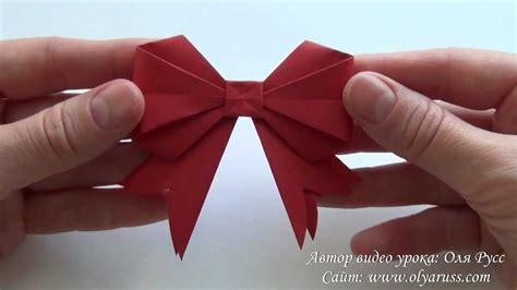 How To Make A Paper Bow - how to make a paper bow