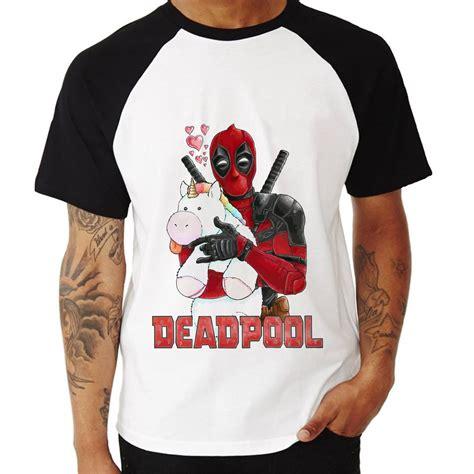 Kaos Deadpool Raglan Deadpool 16 camisa raglan deadpool unicornio curta no elo7
