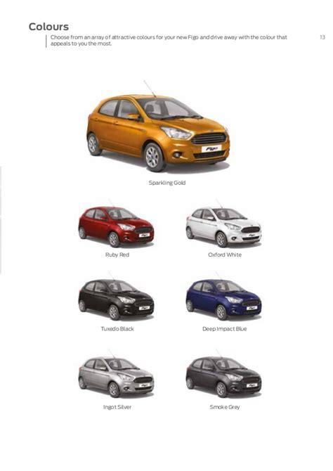 ford figo all colours all new ford figo e brochure