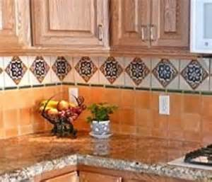 ideas for using mexican tile in a kitchen backsplash kitchen with u shaped amp mexican tile backsplash in santa