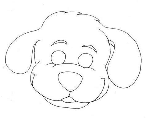 dibujos de perros para colorear manualidades infantiles recortables de mascaras de animales para pintar