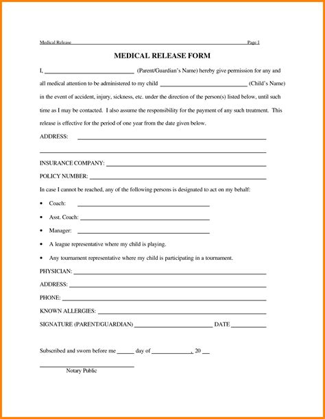 photo release form template for children 12 sle release form for children ledger paper