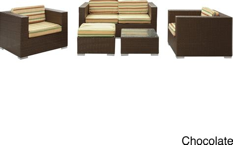 outdoor sofa set malibu collection 5 piece wicker outdoor sectional sofa