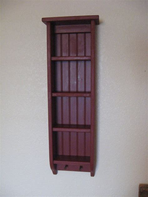 primitive wood ladder shelf