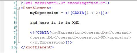 xml tutorial cdata cdata xml processing using talend bdd enabling