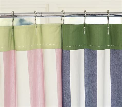 pb kids curtains stripe shower curtain pottery barn kids