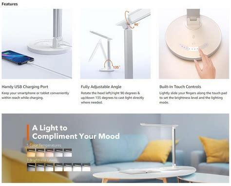 taotronics tt dl led desk lamp  eye caring table lamps