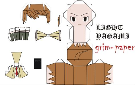 Note Papercraft - light yagami pattern by grim paper on deviantart