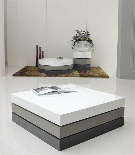 trio  modern  tone square coffee table