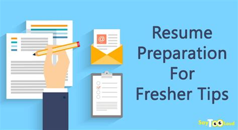 Preparation Of Resume For Freshers by Resume Preparation For Fresher Tips