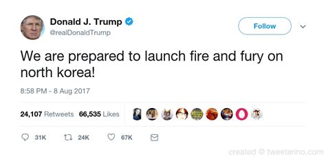 donald trump north korea tweet donald j trump s fake tweet