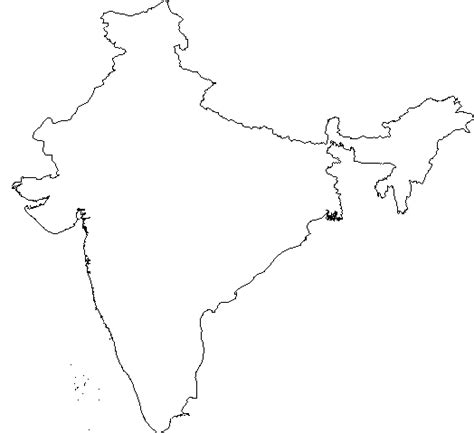 Outline Map Of Indian Subcontinent by Map Of India Clipart Clipart Best
