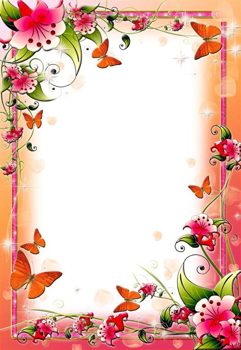 frame design pinterest flower borders borders and frames about books pictures