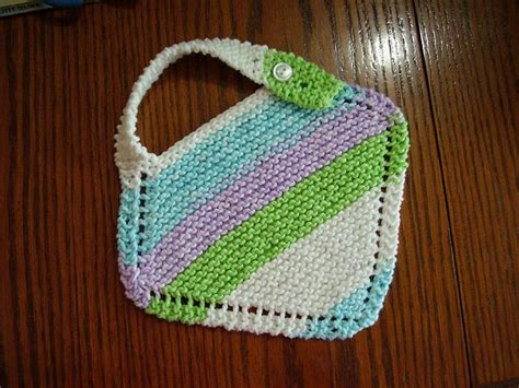 free knitting patterns with cotton yarn grandmother s favorite baby bib free knitting pattern with