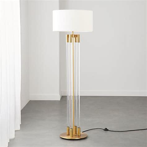 Column Acrylic Floor Lamp  Brass Reviews Cb