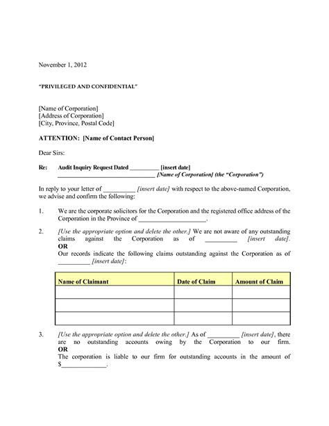 Audit Confirmation Template audit confirmation letter format best template collection
