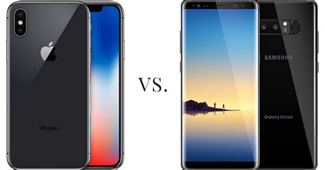 iphone x vs galaxy note 8 awesomely techie