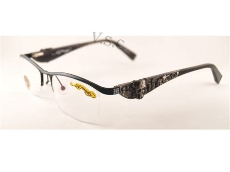 matte black color code ed hardy eho 703 eyeglasses