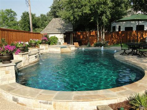 Backyard Pools Guthrie Ok Freeform Pool Bridgeport Limestone Oklahoma