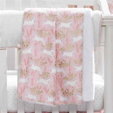 Unicorn Crib Bedding Unicorn Minky Receiving Blanket Pink And Gold Liz And Roo