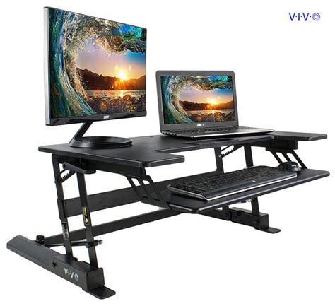 standing desk for two monitors best adjustable standing desk converters for dual monitors
