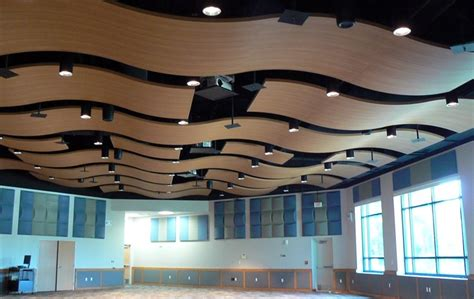 Ceiling Materials Types by Acoustical Ceilings A Variety Of Materials And Designs