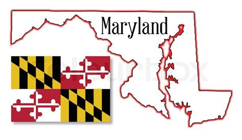 maryland flag map outline map of the state of maryland with map inset