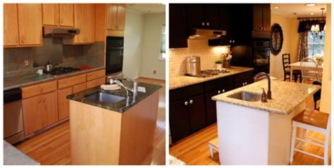 painted black kitchen cabinets before and after kitchen cabinets bridgewood designs interior