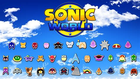 sonic world fan game sonic world complete character roster and victory poses