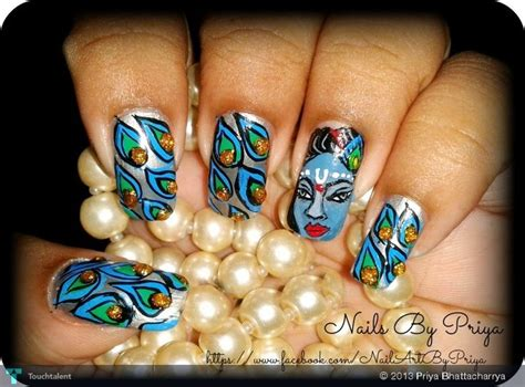 nail art tutorial in hindi lord krishna fashion by priya bhattacharrya in my work