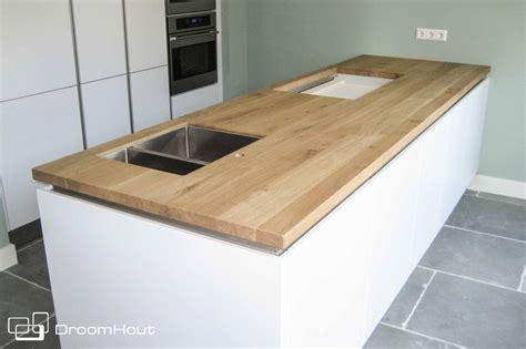 houten keukenblad droomhout keukenbladen maatwerk