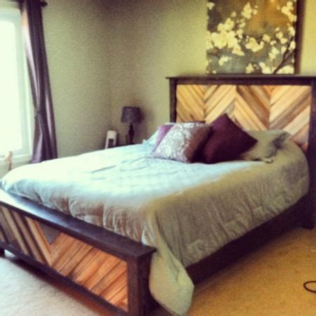 Do It Yourself Bed Frame Chevron Cassidy Bed Do It Yourself Home Projects From White Master Bedroom
