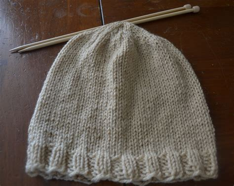 beanie hat knit free knitting pattern basic s beanie chronicles of a