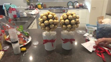 diy ferrero rocher tree vlogmas day 22 clean glass lights diy ferrero rocher trees