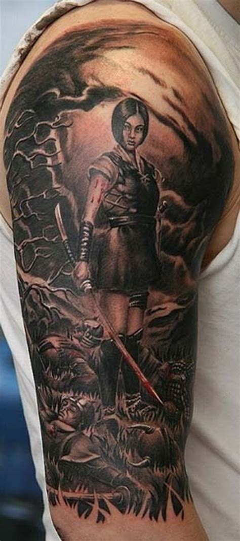 dope sleeve tattoos 30 fighting warrior tattoos warrior tattoos and