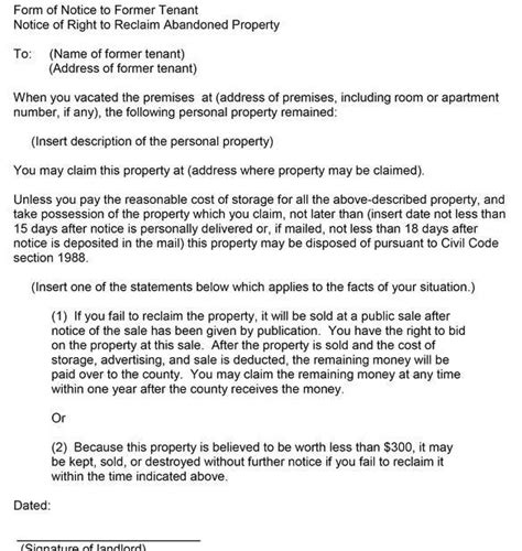Rental Abandonment Letter how after a tenant leaves possessions are they considered abandoned quora