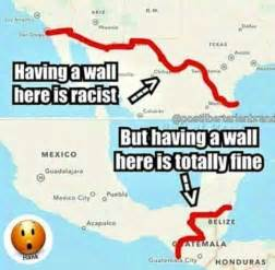 liberals whine about s border wall then this 1 map
