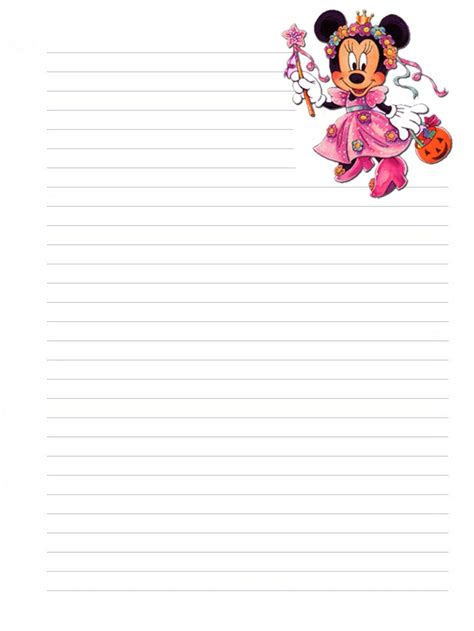 page plus minnie mouse greeting card template disney characters coloring pages part 4