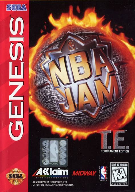 Mba Jam Tournament Edition by Nba Jam Tournament Edition 1995 Genesis Box Cover