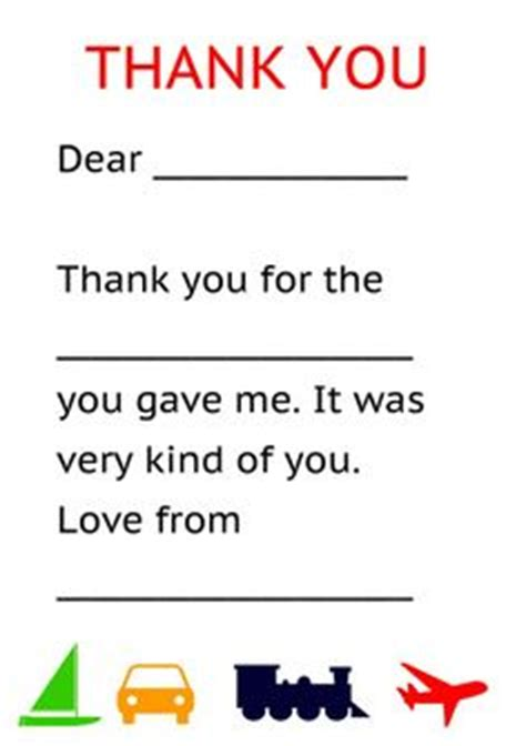 Thank You Letter Template 2nd Grade Home Family Printables On Printables Free Printables And Printable Labels