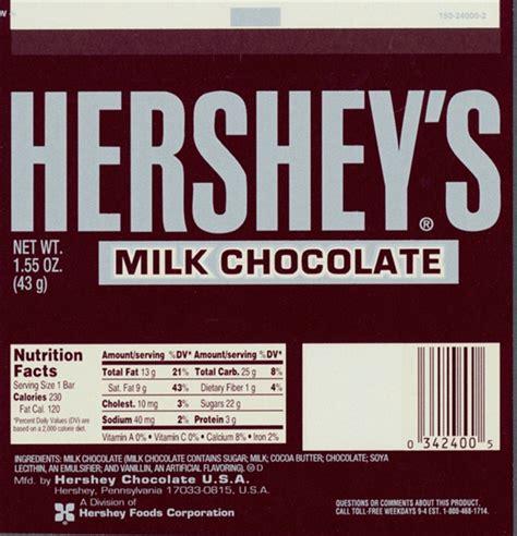 Hershey Bar Label