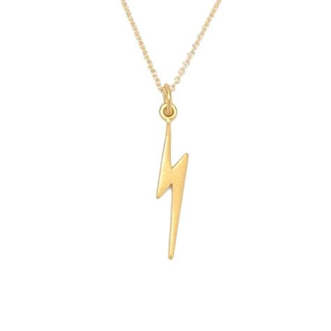 lightning bolt necklace tangerine jewelry shop